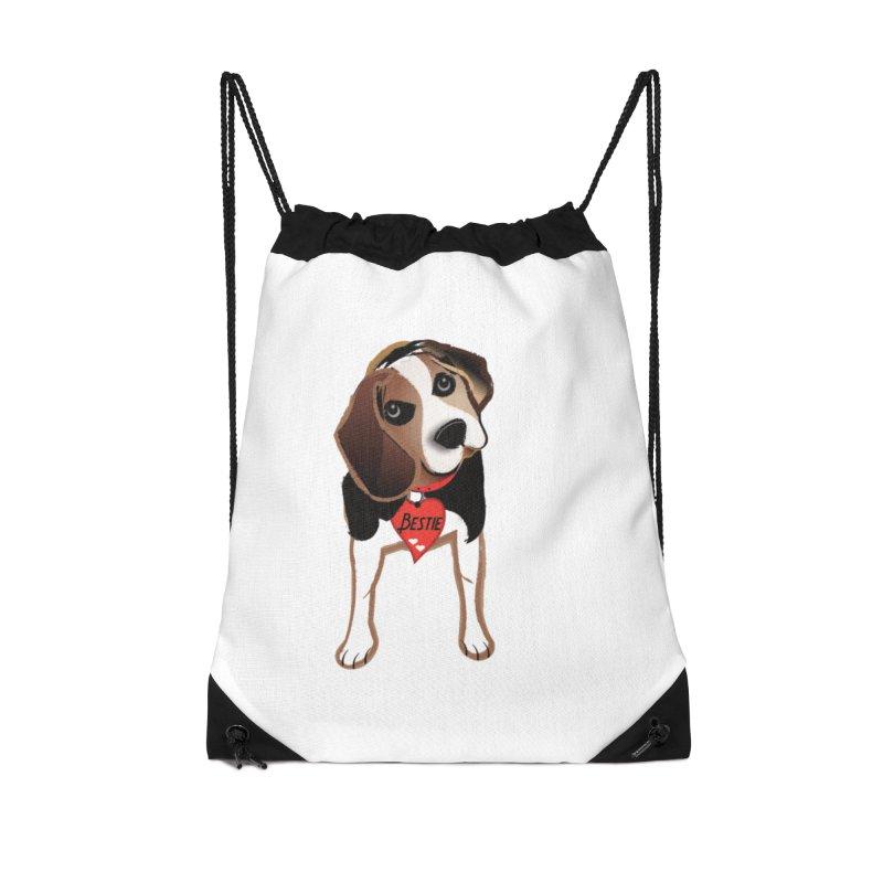 Beagle Bestie Accessories Bag by MyInspirationalGifts Artist Shop