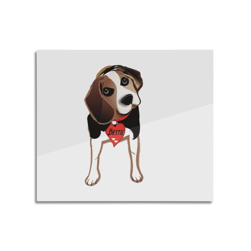 Beagle Bestie Home Mounted Aluminum Print by MyInspirationalGifts Artist Shop
