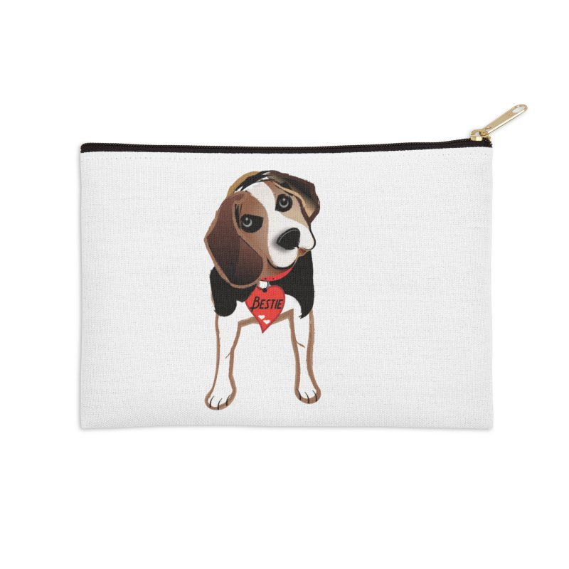 Beagle Bestie Accessories Zip Pouch by MyInspirationalGifts Artist Shop