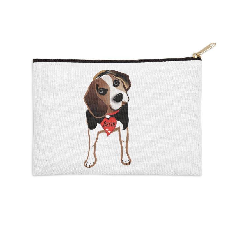 Beagle Bestie Accessories Zip Pouch by MyInspirationalGifts Artist Shop