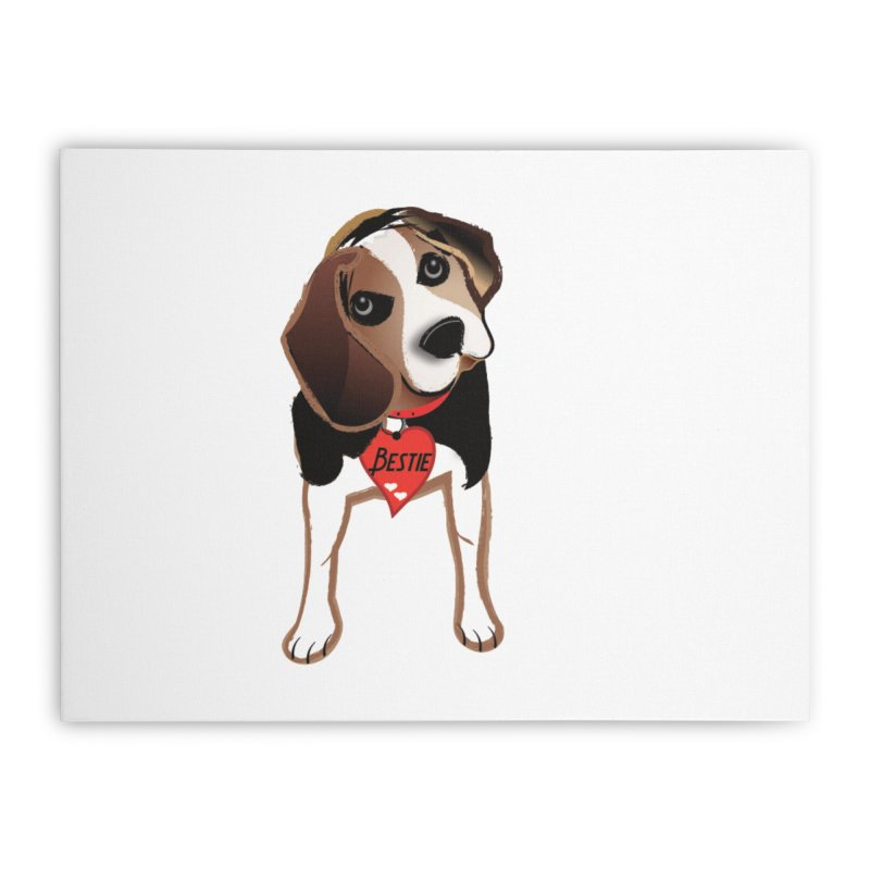 Beagle Bestie Home Stretched Canvas by MyInspirationalGifts Artist Shop