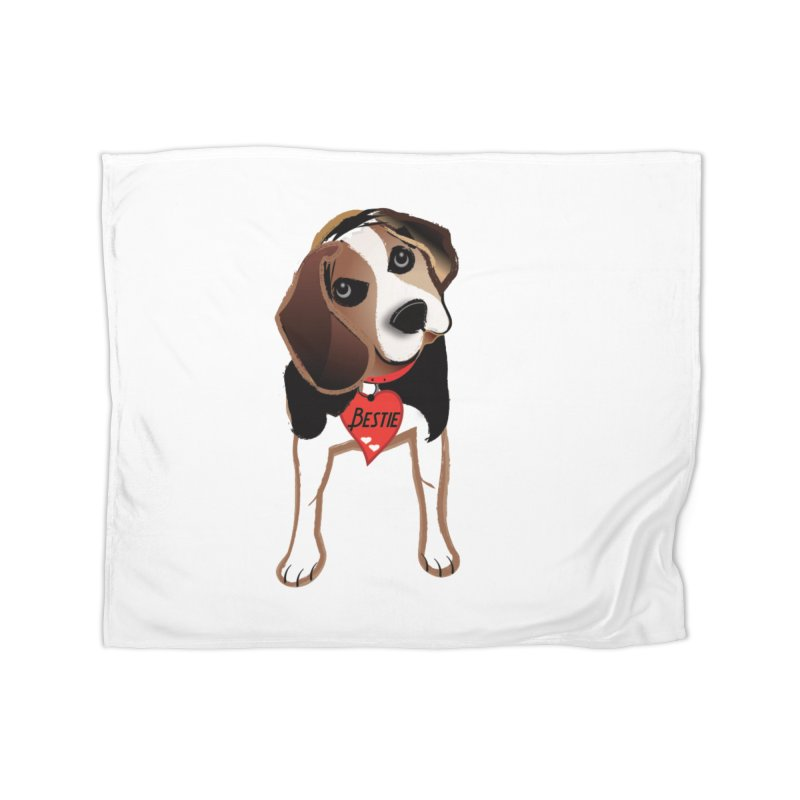 Beagle Bestie Home Fleece Blanket Blanket by MyInspirationalGifts Artist Shop