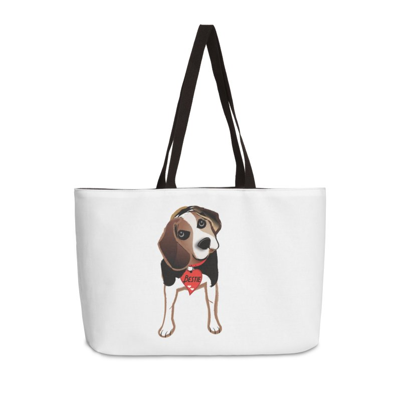 Beagle Bestie Accessories Weekender Bag Bag by MyInspirationalGifts Artist Shop