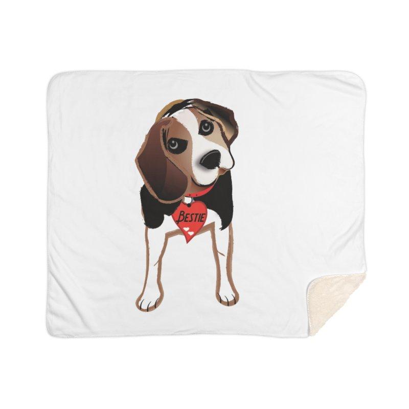 Beagle Bestie Home Sherpa Blanket Blanket by MyInspirationalGifts Artist Shop