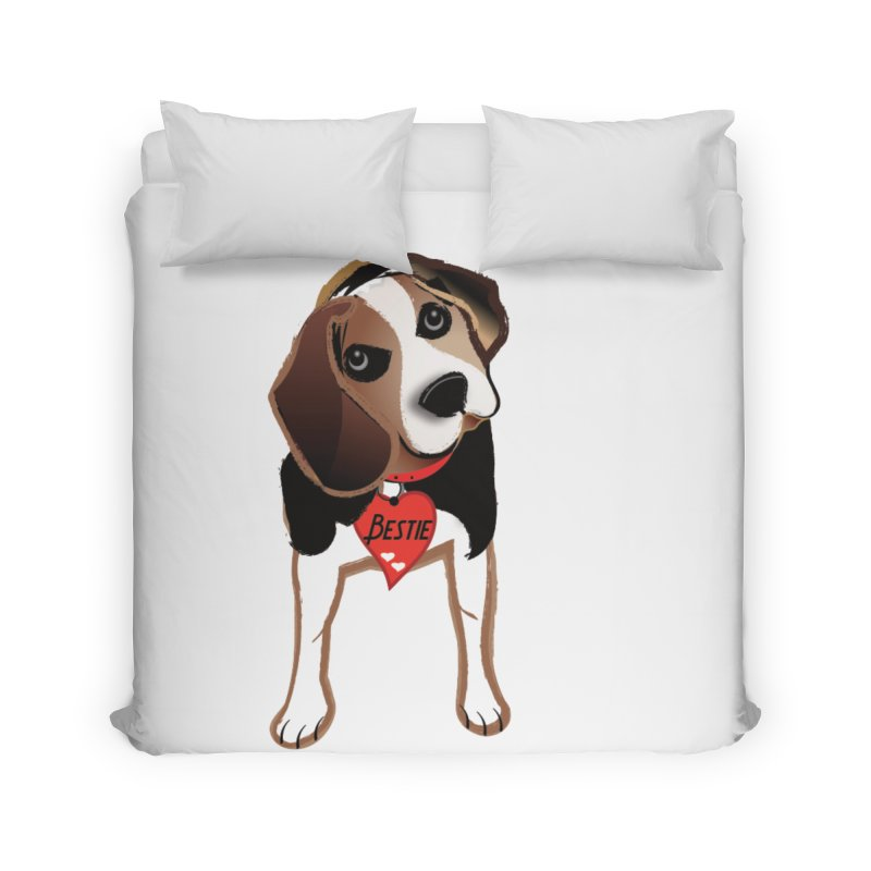 Beagle Bestie Home Duvet by MyInspirationalGifts Artist Shop