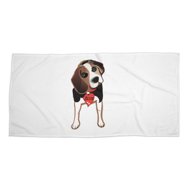 Beagle Bestie Accessories Beach Towel by MyInspirationalGifts Artist Shop