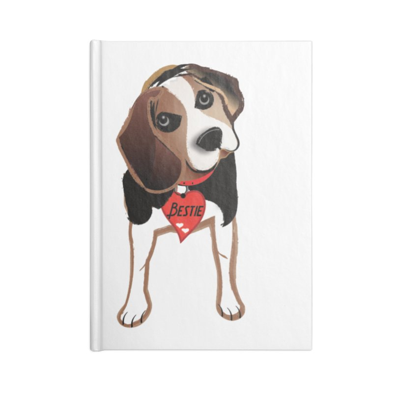 Beagle Bestie Accessories Lined Journal Notebook by MyInspirationalGifts Artist Shop