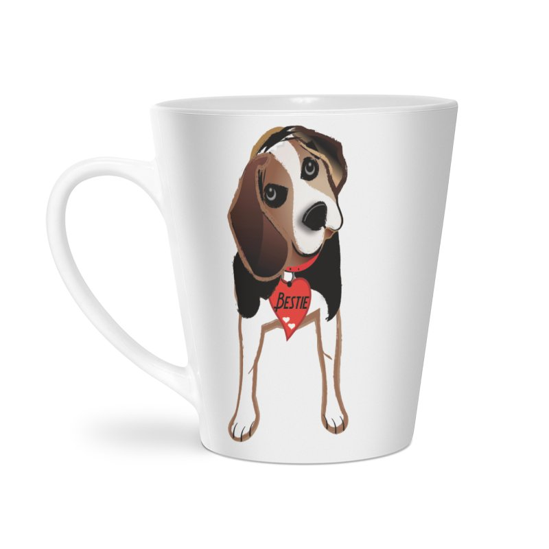 Beagle Bestie Accessories Latte Mug by MyInspirationalGifts Artist Shop