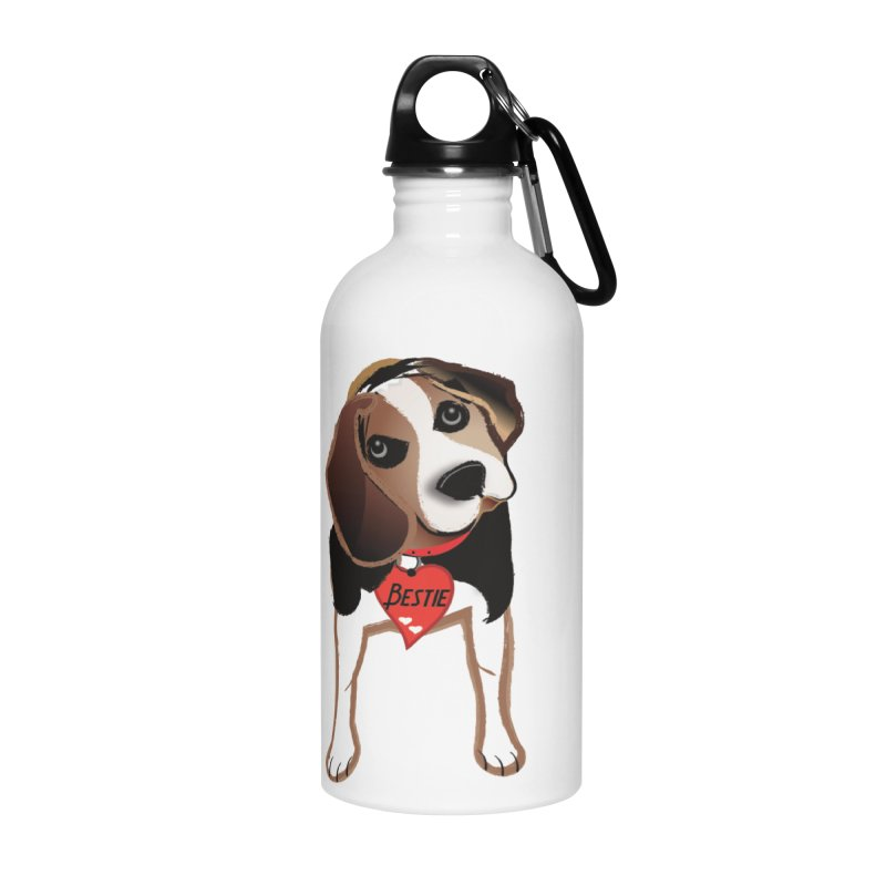 Beagle Bestie Accessories Water Bottle by MyInspirationalGifts Artist Shop