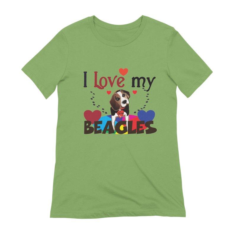 I love my Beagles Women's Extra Soft T-Shirt by MyInspirationalGifts Artist Shop