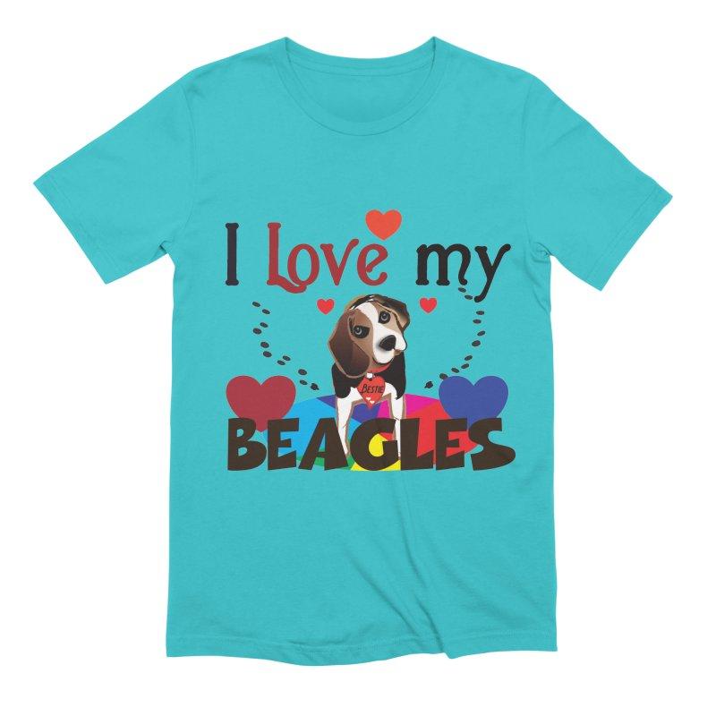I love my Beagles Men's Extra Soft T-Shirt by MyInspirationalGifts Artist Shop