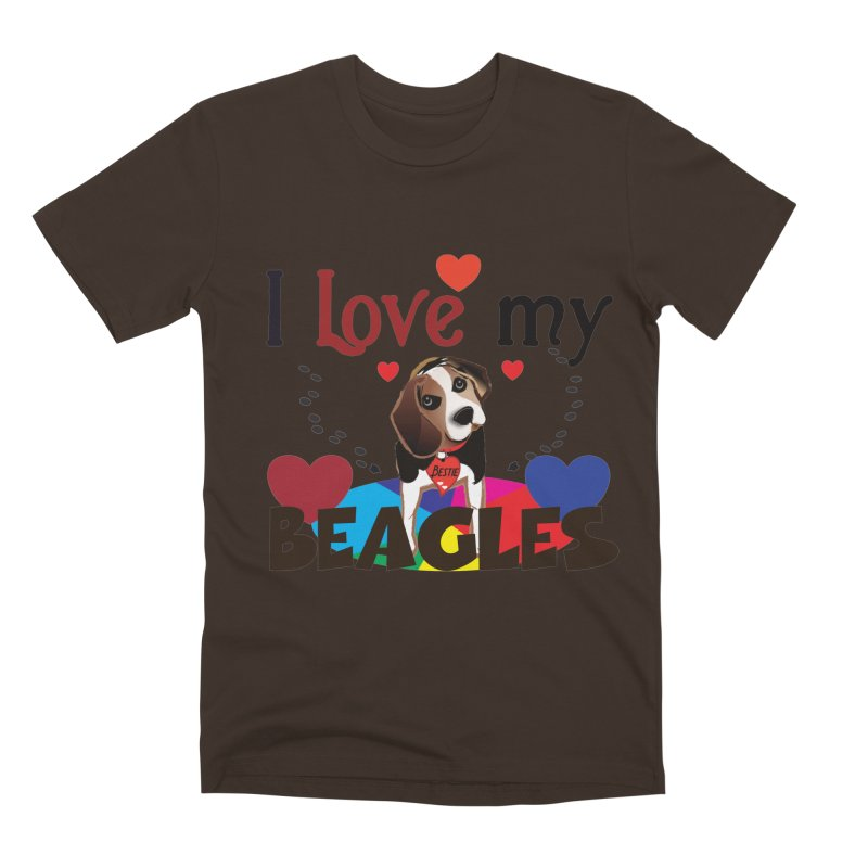I love my Beagles Men's Premium T-Shirt by MyInspirationalGifts Artist Shop