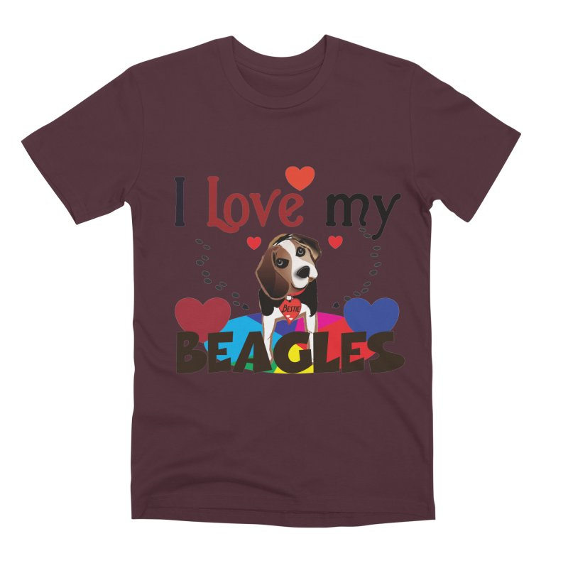 I love my Beagles Men's Premium T-Shirt by MyInspirationalGifts Artist Shop