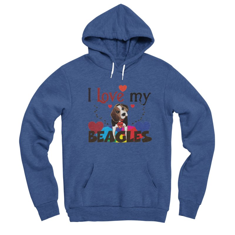 I love my Beagles Men's Sponge Fleece Pullover Hoody by MyInspirationalGifts Artist Shop