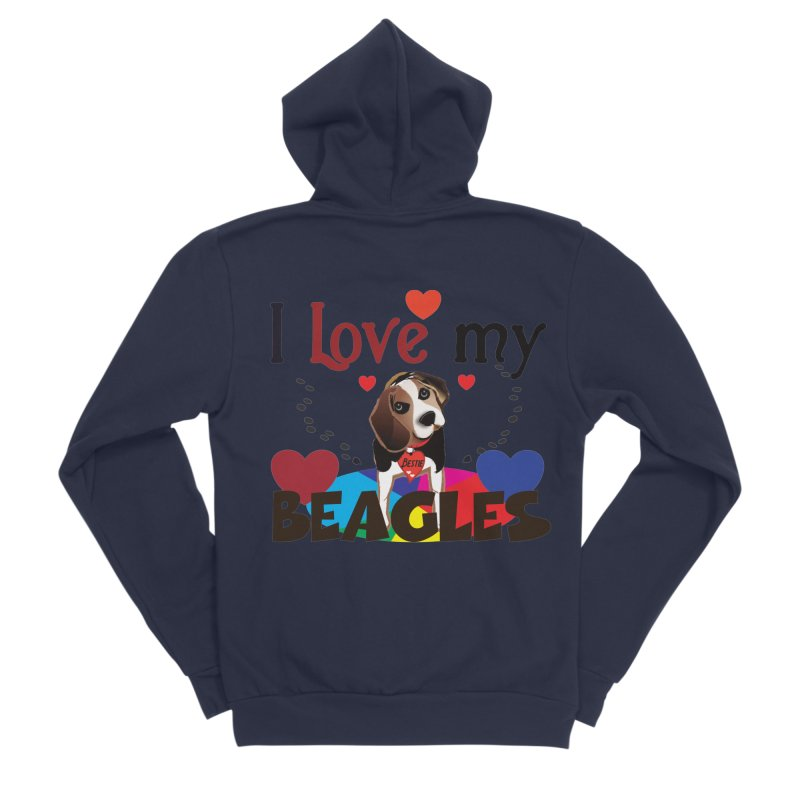 I love my Beagles Women's Sponge Fleece Zip-Up Hoody by MyInspirationalGifts Artist Shop