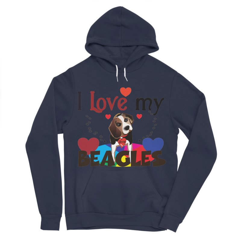 I love my Beagles Women's Sponge Fleece Pullover Hoody by MyInspirationalGifts Artist Shop