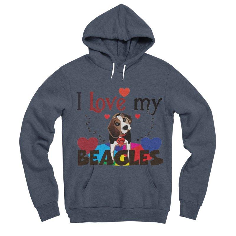 I love my Beagles Women's Sponge Fleece Pullover Hoody by MyInspirationalGifts Artist Shop