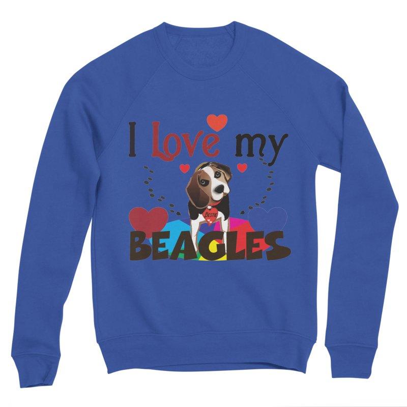 I love my Beagles Men's Sponge Fleece Sweatshirt by MyInspirationalGifts Artist Shop
