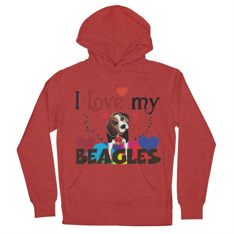 I love my Beagles Men's French Terry Pullover Hoody by MyInspirationalGifts Artist Shop