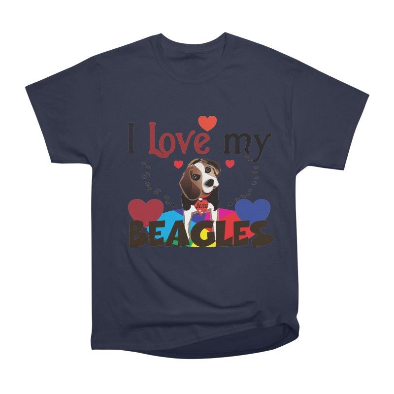 I love my Beagles Women's Heavyweight Unisex T-Shirt by MyInspirationalGifts Artist Shop