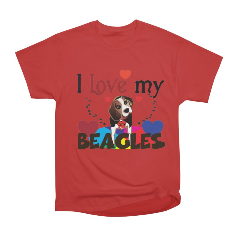 I love my Beagles Men's Heavyweight T-Shirt by MyInspirationalGifts Artist Shop