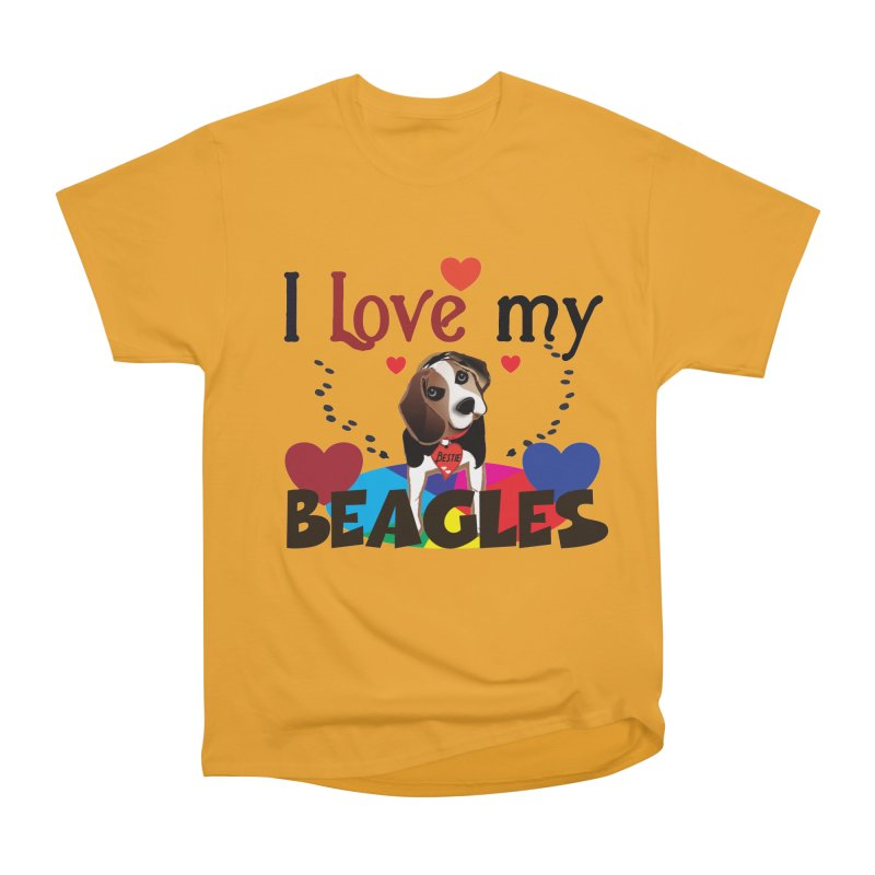 I love my Beagles Women's Heavyweight Unisex T-Shirt by MyInspirationalGifts Artist Shop
