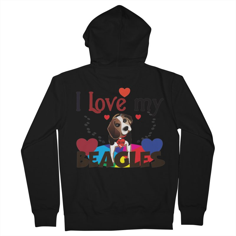 I love my Beagles Women's French Terry Zip-Up Hoody by MyInspirationalGifts Artist Shop