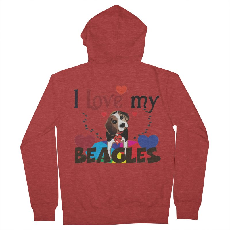 I love my Beagles Men's French Terry Zip-Up Hoody by MyInspirationalGifts Artist Shop