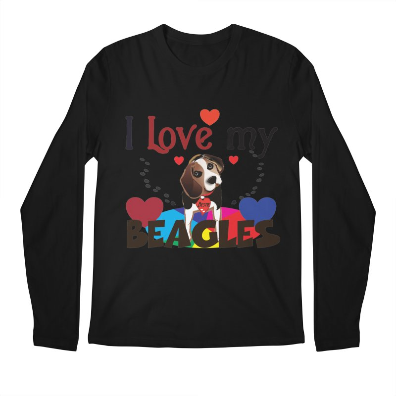I love my Beagles Men's Regular Longsleeve T-Shirt by MyInspirationalGifts Artist Shop