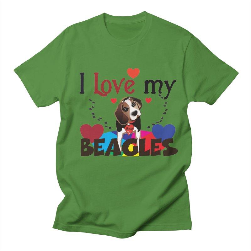 I love my Beagles Women's Regular Unisex T-Shirt by MyInspirationalGifts Artist Shop