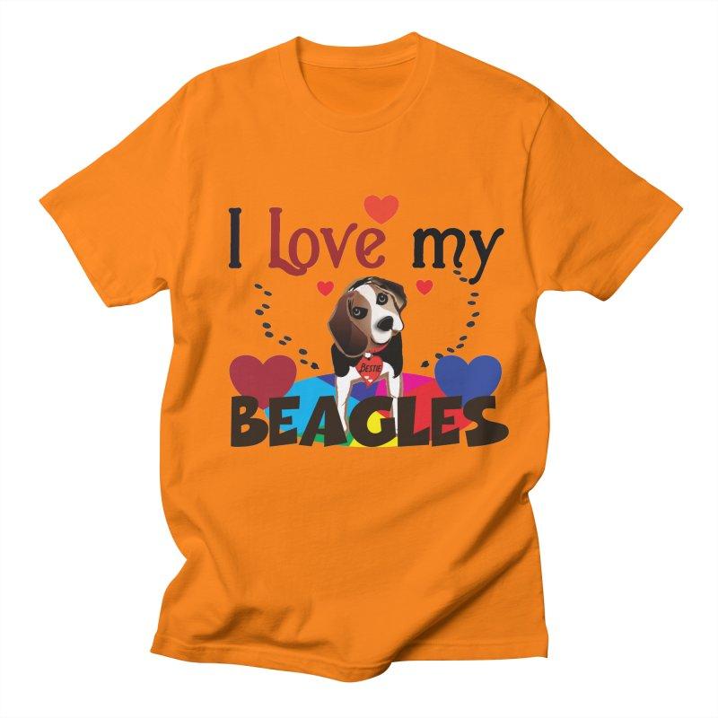 I love my Beagles Men's Regular T-Shirt by MyInspirationalGifts Artist Shop