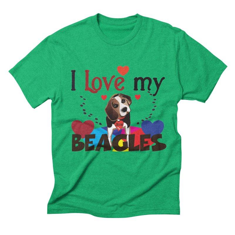 I love my Beagles Men's Triblend T-Shirt by MyInspirationalGifts Artist Shop