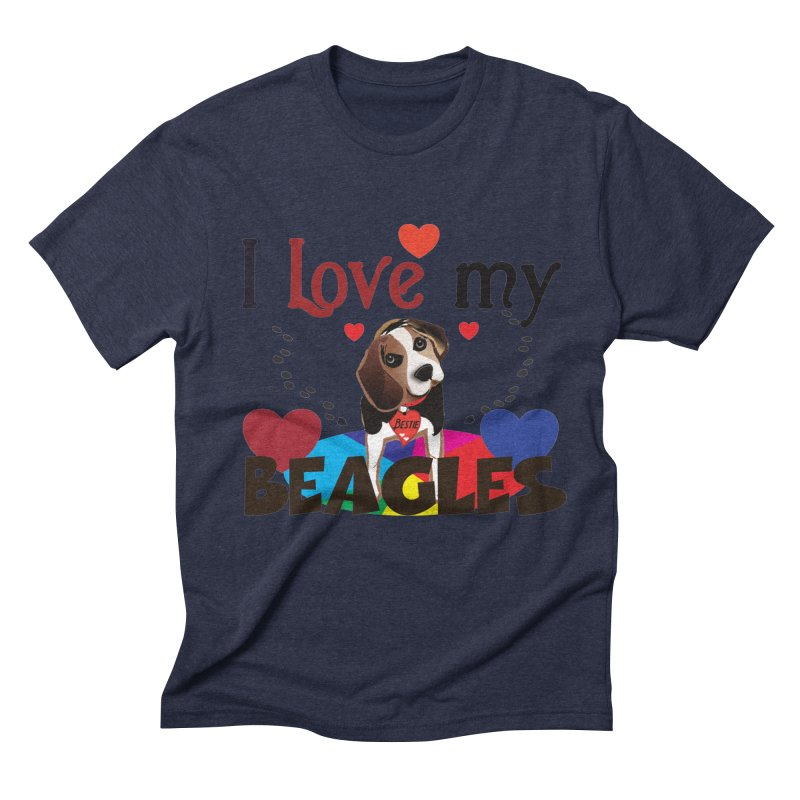 I love my Beagles Men's Triblend T-Shirt by MyInspirationalGifts Artist Shop