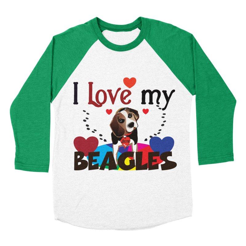 I love my Beagles Women's Baseball Triblend Longsleeve T-Shirt by MyInspirationalGifts Artist Shop