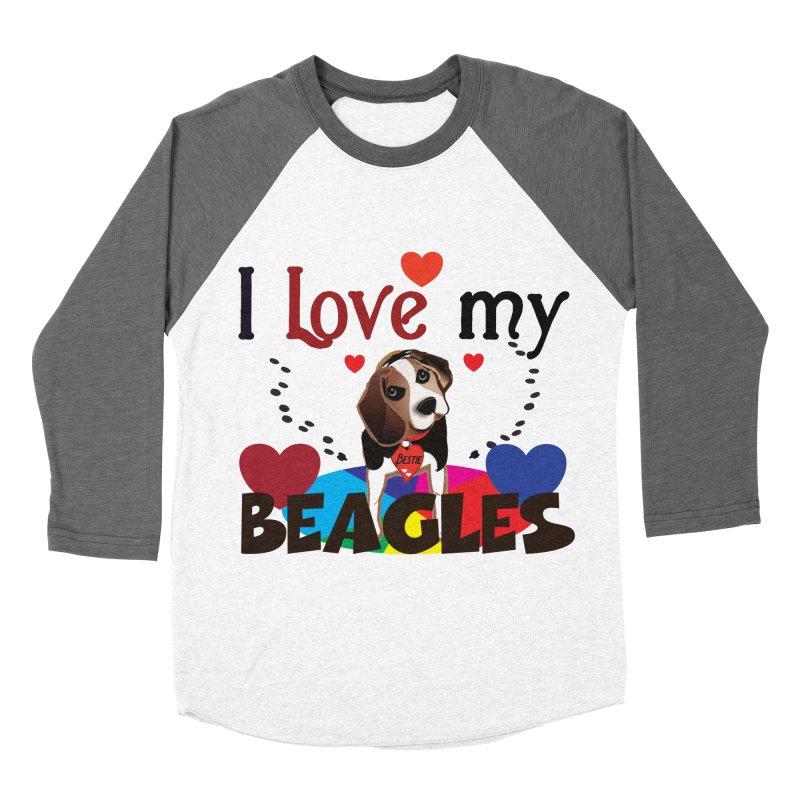 I love my Beagles Men's Baseball Triblend Longsleeve T-Shirt by MyInspirationalGifts Artist Shop