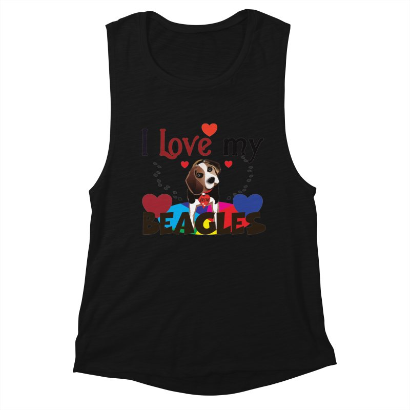 I love my Beagles Women's Muscle Tank by MyInspirationalGifts Artist Shop