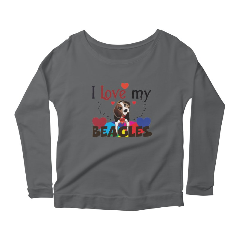 I love my Beagles Women's Scoop Neck Longsleeve T-Shirt by MyInspirationalGifts Artist Shop