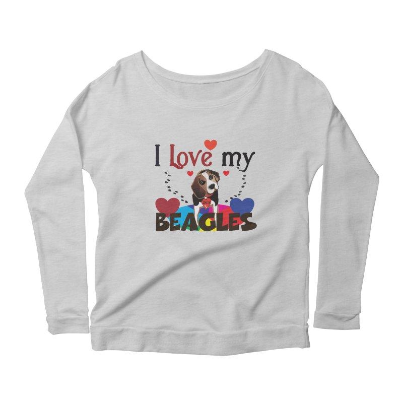 I love my Beagles Women's Scoop Neck Longsleeve T-Shirt by MyInspirationalGifts Artist Shop