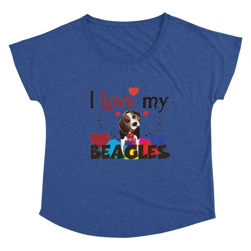 I love my Beagles Women's Dolman Scoop Neck by MyInspirationalGifts Artist Shop