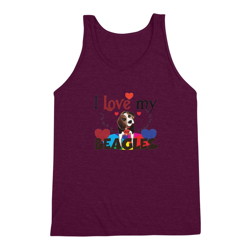 I love my Beagles Men's Triblend Tank by MyInspirationalGifts Artist Shop