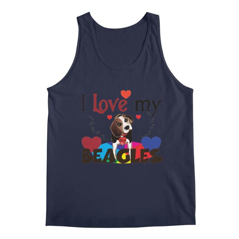 I love my Beagles Men's Regular Tank by MyInspirationalGifts Artist Shop