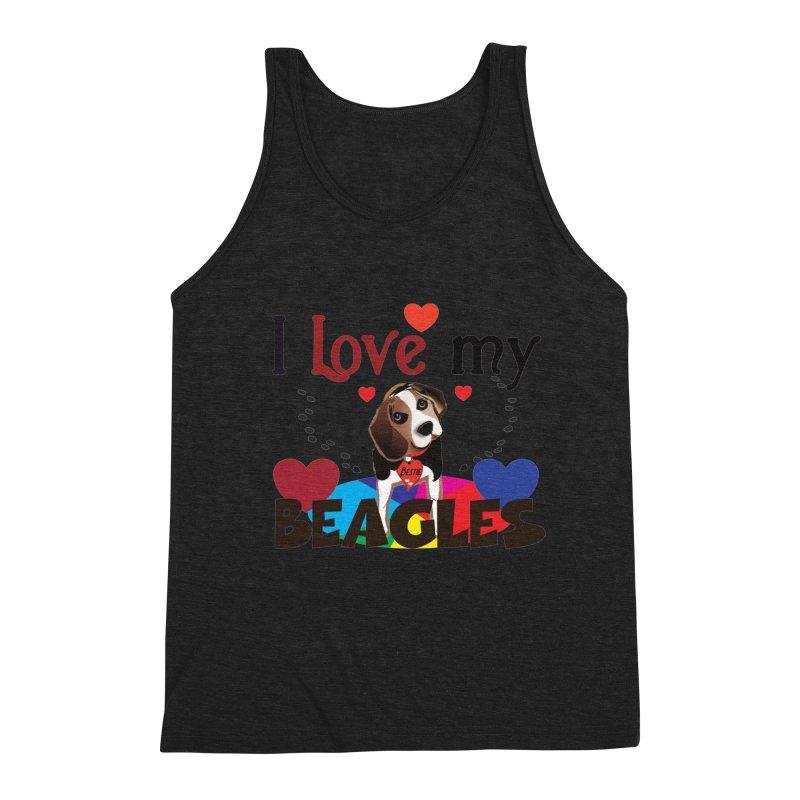 I love my Beagles Men's Triblend Tank by MyInspirationalGifts Artist Shop