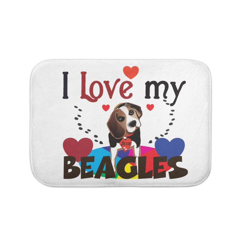 I love my Beagles Home Bath Mat by MyInspirationalGifts Artist Shop