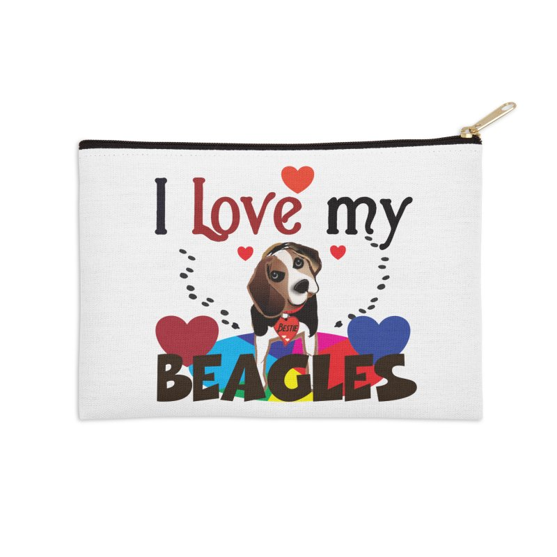 I love my Beagles Accessories Zip Pouch by MyInspirationalGifts Artist Shop