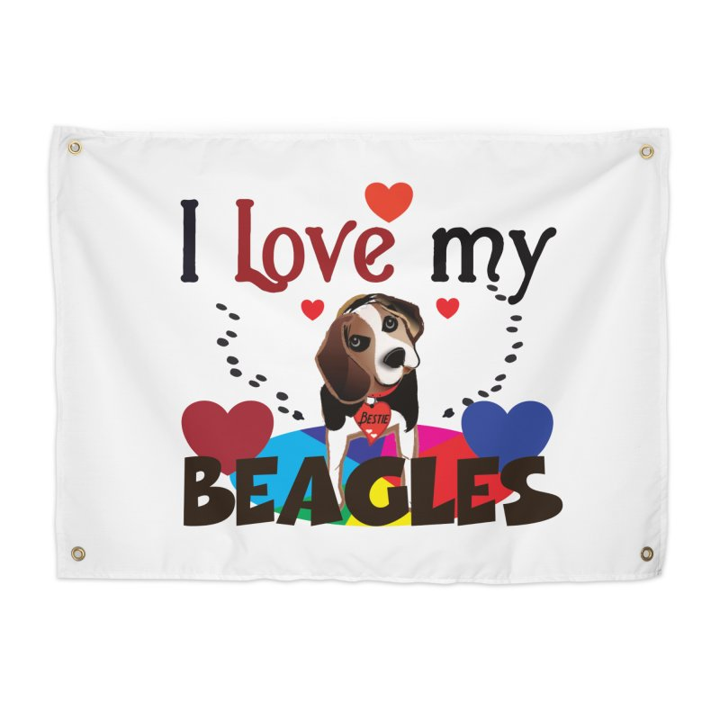 I love my Beagles Home Tapestry by MyInspirationalGifts Artist Shop