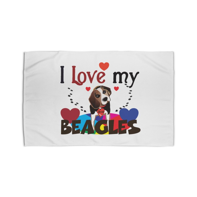 I love my Beagles Home Rug by MyInspirationalGifts Artist Shop