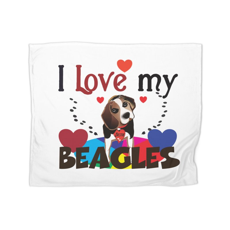 I love my Beagles Home Fleece Blanket Blanket by MyInspirationalGifts Artist Shop