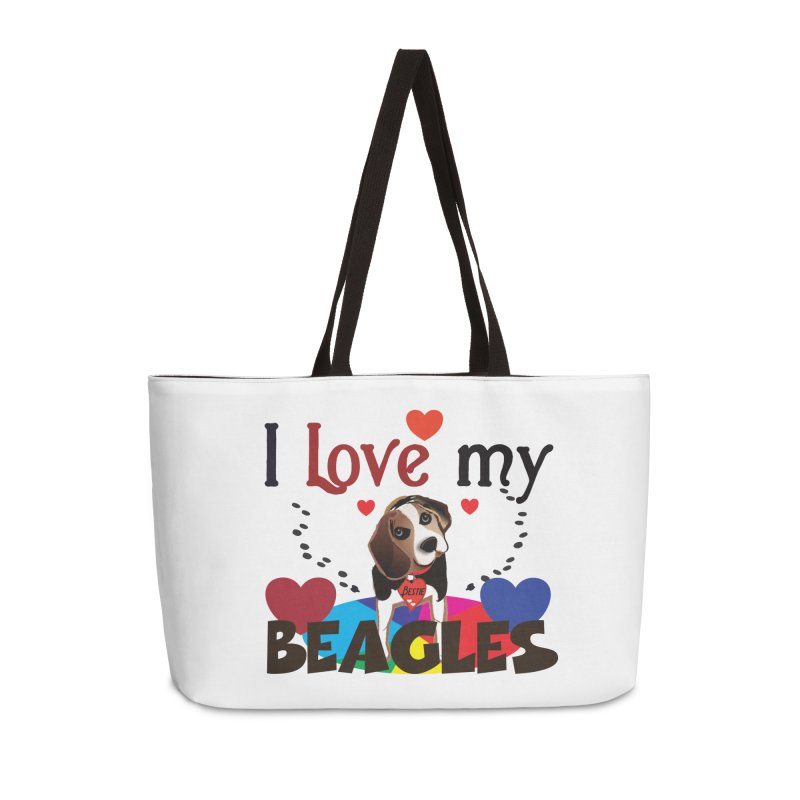 I love my Beagles Accessories Weekender Bag Bag by MyInspirationalGifts Artist Shop