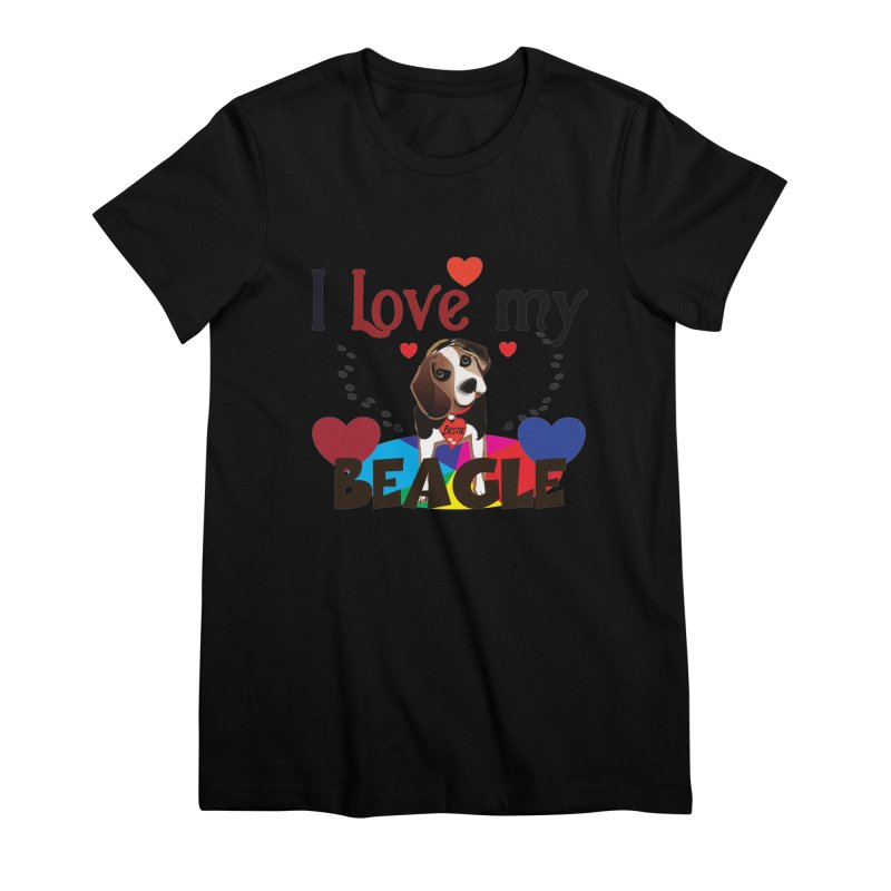 Beagle love Women's Premium T-Shirt by MyInspirationalGifts Artist Shop