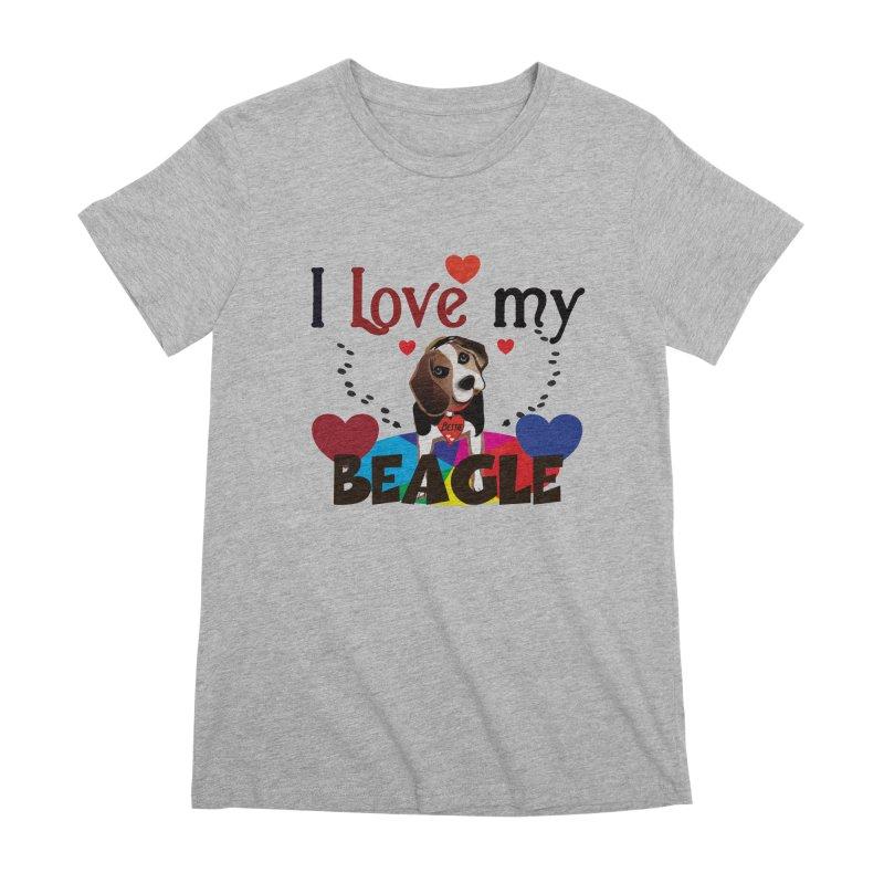 Beagle love Women's Premium T-Shirt by MyInspirationalGifts Artist Shop